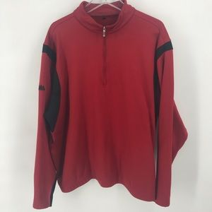 Red Nike Golf 1/2 Zip Pullover Men's XL